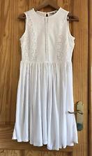 Beautiful Next Broderie Anglais Soft White Holiday Beach Dress Size 12 Petite 10