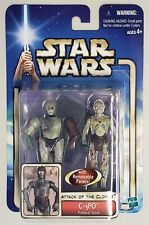STAR WARS ATTACK OF THE CLONES C-3PO PROTOCOL DROID WITH BACKGROUND INSERT