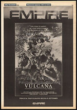 VULCANA__Original 1986 Trade print AD / poster_screening promo__Empire Pictures