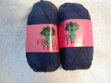 2 SKEINS - FROG TREE Pima/Silk -   Color # 842 - NAVY.  310 yards