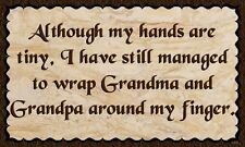 (Grandparents Wrapped)   DISTRESSED SIGN / PLAQUE, WALL DECOR, PRIMITIVE SIGN