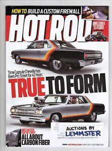 Hot Rod October 2021 magazine 65 Chevelle 69 Barracuda 59 El Camino 33 Woken