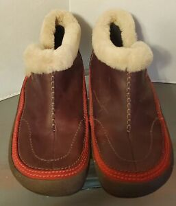 Merrell Spirit Tibet Low Ankle Boots Womens 7.5 Sherpa Polartec Thinsulate Brown