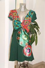 vestido estampado algodón y viscosa DESIGUAL talla M