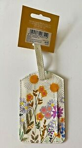 Paperchase Floral Design Luggage Tag Suitcase Baggage Label Name Address Tel