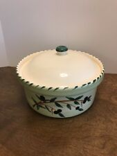 Williams Sonoma Portugal Liguria Oval Covered Casserole Pottery Olives 9.5""