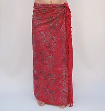 NEW EXTRA LARGE LONG UNISEX PREMIUM QUALITY RED GECKO BEACH SARONG / saL507P