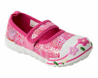 GIRLS OFFICIAL PEPPA PIG PINK FLORAL CANVAS PUMPS SHOES TRAINERS UK SIZE 5-10