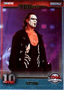 TNA Sting Hall of Fame #118 2012 TENacious Short Print Insert Card SN 31 of 100