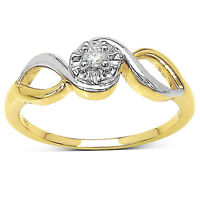 9CT GOLD DIAMOND SOLITAIRE ENGAGEMENT RING SIZE MNOQ MOTHERS DAY ANNIVERSARY