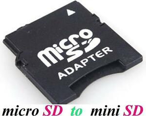 NEW Micro SD HC SDHC TF to Mini SD HC SDHC Memory Card Adapter Converter reader