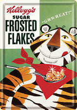Kelloggs Frosted Flakes miniature metal sign /  postcard    (na)