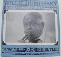 """WILLIE HUMPHREY New Orleans Clarinet w/ """"Sing Miller & Joseph Butler vinyl LP"""