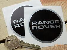 Range Rover Negro & Plata Circular 67mm Par Coche Clásico pegatinas Tierra Suv