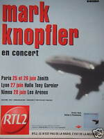 PUBLICITÉ 2001 RTL 2 AVEC MARK KNOPFLER EN CONCERT - ADVERTISING