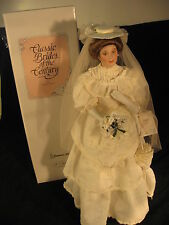 "Bride Doll, porcelain ""Flora"" 1900's - Brides of the Century - Ashton Drake Co."
