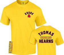 Kronk Boxeo Hombre THOMAS Hearns Entrenamiento Campamento Camiseta Amarillo