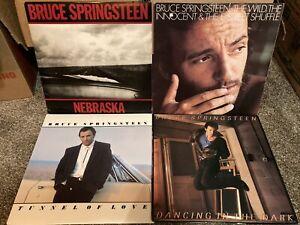Bruce Springsteen -4 Vinyl Record LP Lot -Nebraska  The Wild  Tunnel Of  Dancing