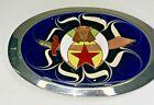 Vintage Shrine Shriner Mason Masonic Freemason Belt Buckle