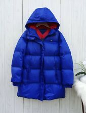 SMALL WOMENS Tommy Hilfiger funyun puffer long coat blue...