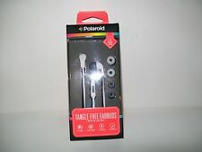 Polaroid 55 PHP Tangle Free Earbuds With In-Line Microphone New