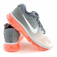 Nike Air Max 2017 Women's Running Shoes Grey Lava Pink Sneakers 849560 007