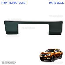 Fits Nissan Navara Np300 D23 2015 2017 Tape Matte Black Front Bumper Plate Cover