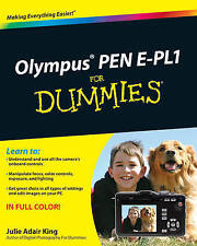 Olympus PEN E-PL1 For Dummies by Julie Adair King (Paperback, 2010)