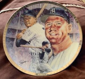 1991 MICKEY MANTLE SPORTS IMPRESSIONS COLLECTOR PLATE LIMITED PLATINUM EDITION