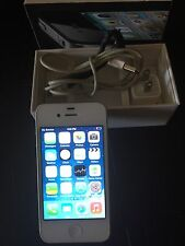 Apple iPhone 4-8GB White Smartphone Bundle With Car Holder.