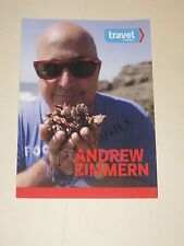 Bizarre Foods ANDREW ZIMERN Signed 5x7 Photo TRAVEL CHANNEL AUTOGRAPH