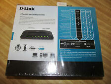 "D-Link 8-Port Fast Ethernet Switch Des-1008E""Factory Sealed New"