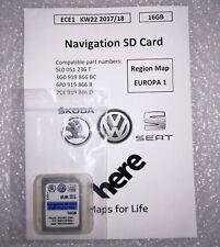 VW/SEAT/SKODA 16gb navi scheda SD [5l0051236,3g0919866,6p0919866 ece1, kw45 17/18]