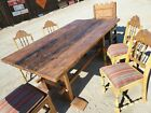 1930 s Rancho Coronado Monterey Period Dining Chairs and Rustic Spanish Table