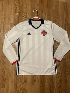 2016 Colombia National Team Adidas Long Sleeve Jersey Size Large