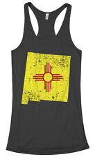 Threadrock Women's New Mexico State Flag Racerback Tank Top Albuquerque