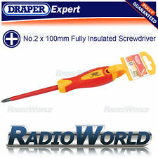 Draper Expert VDE No.2 x 100mm Fully Insulated Electrician Phillips Screw Driver