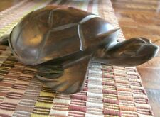 """Heavy Ironwood Turtle Hand Carved -10"""" L x 6"""" W"""