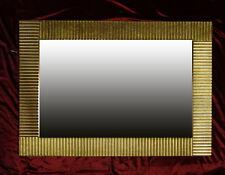 Espejo de Marco Biago Pared Dorado Madera 100x70 cm Kristall-Form