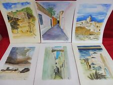 6 schöne , gemalte Bilder__Aquarelle __Orient __signiert__