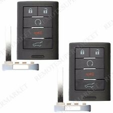 2 Replacement for Cadillac 2010-2015 SRX 2013-2014 ATS XTS Remote Key Fob Entry