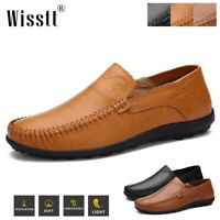 Men's Wisstt New Leather Driving Casual Shoes Moccasins Slip On Loafers