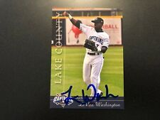 LeVon Washington In Person Signed 2012 Lake County Captains Team Set Card