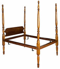 Swc-An Elegant Tiger Maple Bed, New England, c.1810