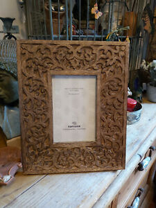 MALABAR VINE CARVED MANGO WOOD PHOTO FRAME HAND CRAFTED IN INDIA