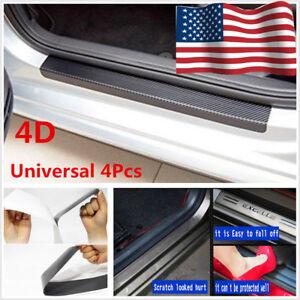 US Accessories Carbon Fiber Car Scuff Plate Door Sill 4D Sticker Panel Protector
