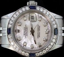 Rolex Ladies Datejust Date Jubilee Steel Diamond Dial Bezel Sapphire Watch