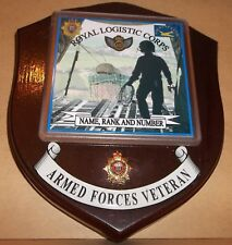 Royal Logistic Corps Air Dispatcher Wall Plaque with name rank & number