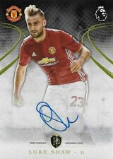 2016-17 TOPPS PREMIER GOLD EPL Luke Shaw Manchester United Auto Autograph Card