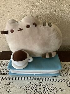 Pusheen the Cat Barnes & Noble Exclusive Full Size Plush Coffee Book RARE NWoT